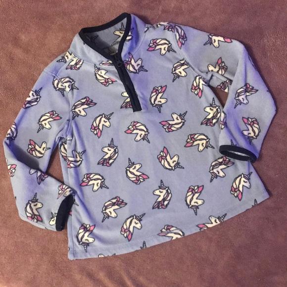OshKosh B/'Gosh Toddler Girls/' Unicorn on  Navy Sweater NWT unicorns blue